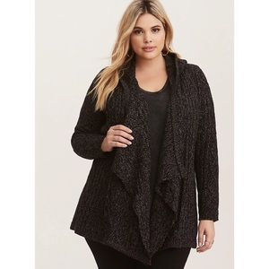 Torrid Marled Cable Knit Hooded Cardigan [2]